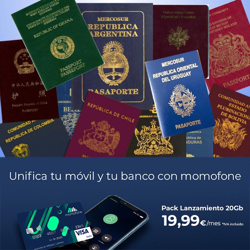 abrir cuenta bancaria española solo con el pasaporte
