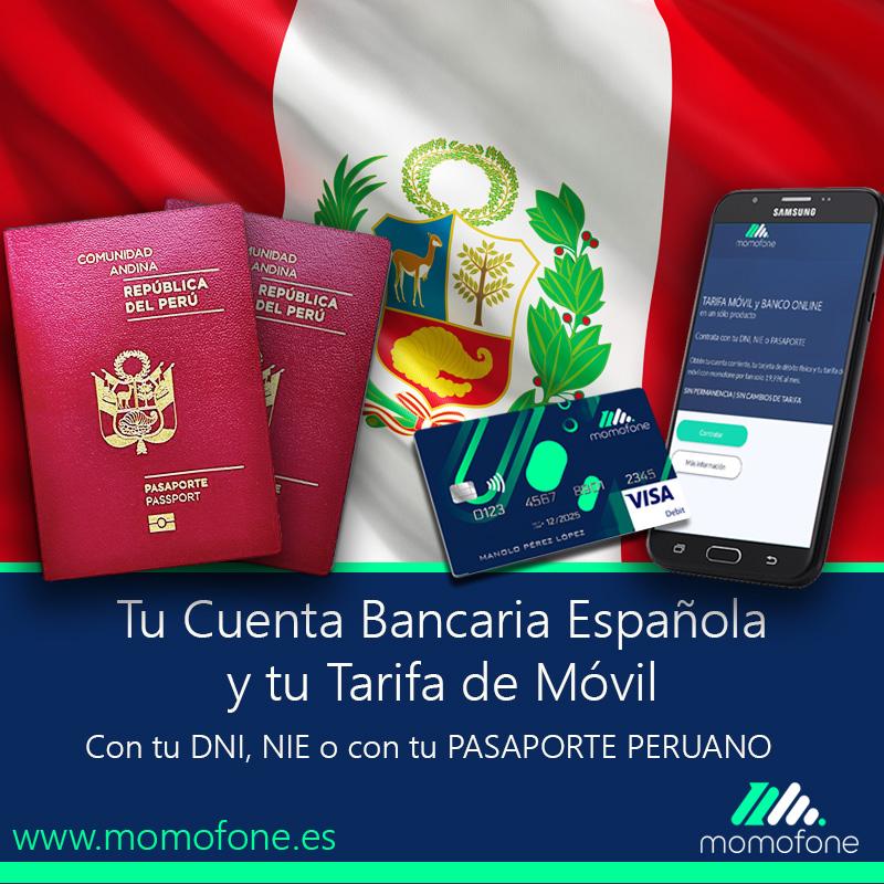 cuenta bancaria española con tu pasaporte peruano